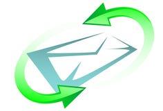 symbole de courrier d'e illustration stock