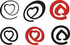 Symbole de courrier de Valentin Illustration Libre de Droits