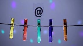 Symbole de courrier de pince à linge personne longueur de hd banque de vidéos