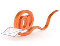 Symbole de courrier qui enveloppe Image stock