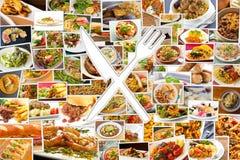 Symbole de couteau de fourchette Photo stock