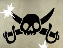 Symbole de crâne des pirates photo stock