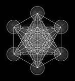 Symbole de cube en Metatrons illustration de vecteur