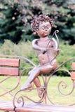 Symbole de cupidon de statue d'amour Photographie stock