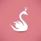 Symbole de cygne Photos libres de droits