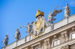 Symbole de décoration d'emblème d'aile impériale de chancellerie Photographie stock