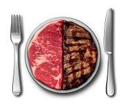 Symbole de dîner de bifteck Photographie stock libre de droits