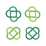 Symbole de deux coeurs Ensemble d'icône Vecteur illustration stock