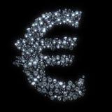 Devise de symbole de diamant - euro Photo stock