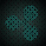 Symbole de Digital de l'ondulation XRP de cryptocurrency illustration libre de droits