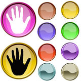 Symbole de doigt Photos libres de droits