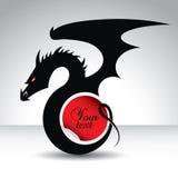 Symbole de dragon pendant 2012 années - avec la place des textes Image libre de droits