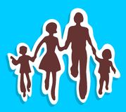 Symbole de famille Photos stock