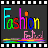 Symbole de festival de mode sur la pellicule cinématographique Images stock