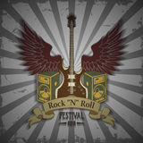 Symbole de festival de roche Images libres de droits