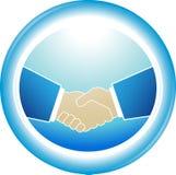 Symbole de fiabilité - poignée de main d'association Photographie stock