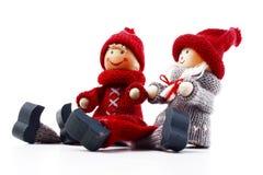 Symbole de figurine de jour du ` s de Valentine Couples de Noël Illustration de couples de jour du ` s de Valentine Amours romant Images libres de droits