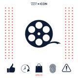 Symbole de film de bobine illustration stock