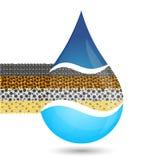 Symbole de filtration de l'eau Photos stock