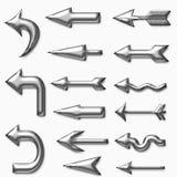 Symbole de flèche de fer Images libres de droits