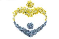Symbole de fleur d'enfant de mère Image stock