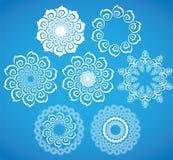 Symbole de flocon de neige de Noël blanc illustration de vecteur