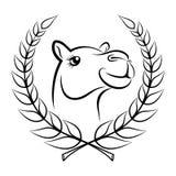 Symbole de gagnant de chameau illustration de vecteur