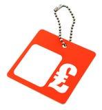 Symbole de GBP de prix à payer Photo stock