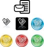 Symbole de graphisme de courrier ou de messge Photographie stock