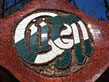 Symbole de Guell de parc à Barcelone Images stock