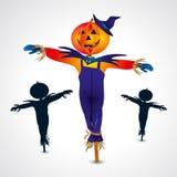 Symbole de Halloween d'épouvantails - illustration de vecteur Photos libres de droits