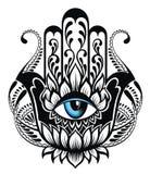 Symbole de Hamsa Main de Fatima Tatouage Design Photos stock