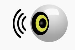 symbole de haut-parleur Images libres de droits