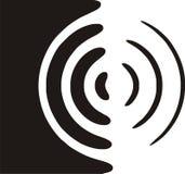 Symbole de haut-parleur Photo stock
