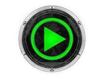 Symbole de jeu de cercle en verre et en métal Images libres de droits