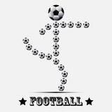 Symbole de joueur de football illustration de vecteur
