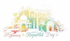 Symbole de jour de République d'Inde illustration libre de droits