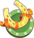Symbole de jour de St.Patricks. Le fer à cheval Images libres de droits