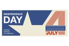 Symbole de Jour de la Déclaration d'Indépendance Etats-Unis d'Amérique, également désigné sous le nom du quatrième de juillet le  Image stock