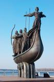 Symbole de Kiev - de Kyi, de Khoriv, de Sheck et de soeur Lybid Images libres de droits