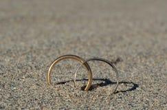 Symbole de l'amour dans le désert Photos libres de droits