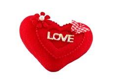 Symbole de l'amour sur le fond blanc Photographie stock libre de droits