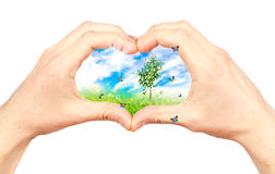 Symbole de l'environnement. Collage. Photos libres de droits