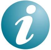 symbole de l'information Photo stock