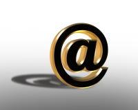 symbole de l'Internet 3D pour l'email au signe illustration de vecteur