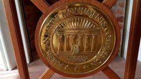 Symbole de la Commission am?ricaine de monuments de bataille dans Florence American Cemetery et le m?morial, Florence, Toscane, I photo stock