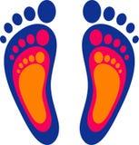 Symbole de la famille : trois empreintes de pas Photo libre de droits