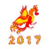 Symbole de la nouvelle année 2017 Photo libre de droits