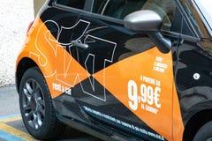 Symbole de la société Sixt de location de voiture images stock