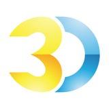 symbole de la technologie de reproduction d'image 3d Image libre de droits